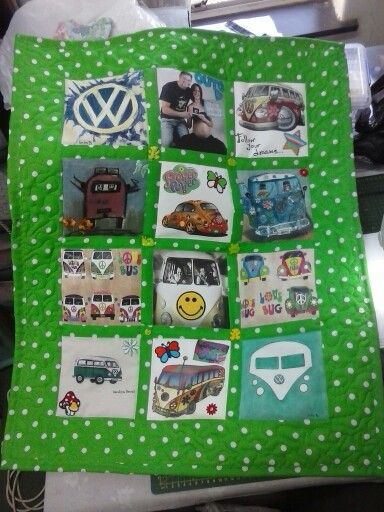 VW stroller quilt