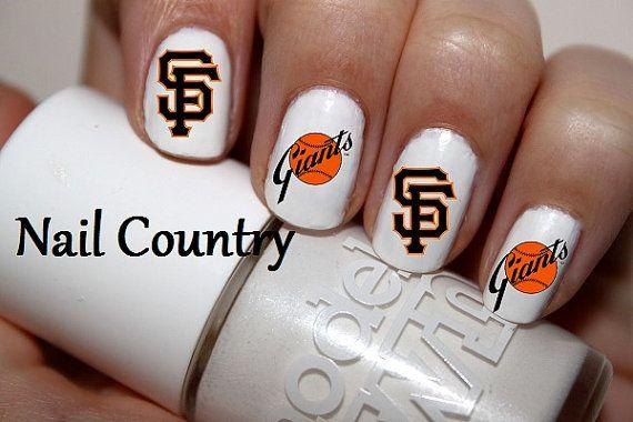 50pc San Francisco Giants Baseball Nail Decals Nail by NailCountry, $3.99