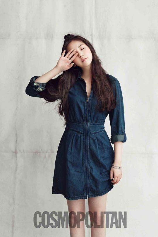 Wonder Girls' Sohee looks chic in denim for Cosmopolitan magazine: K Fashion, Girls Generation, Site Webrandomgirlscom, Sohe Kpop Wondergirl, Girls Sohe, Korean Fashion, Cosmopolitan Magazines, Jeans Dresses, Hilfiger Denim