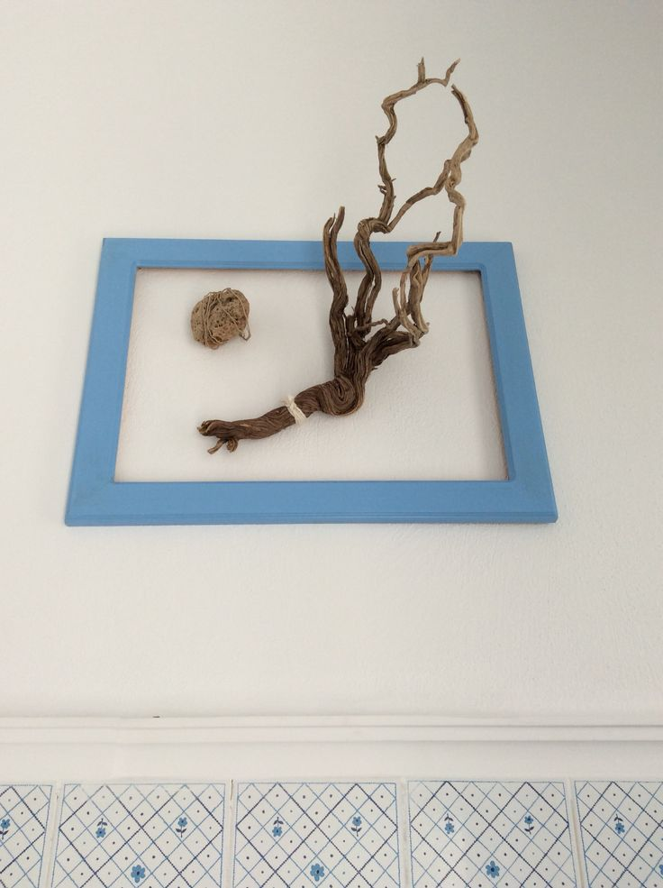Driftwood and rope