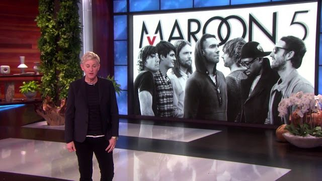 """Maroon 5 - Cold @ Ellen    Follow @maroon5       The first perfomance of """"Cold"""" debut on The Ellen DeGeneres Show. """"Cold"""" was written and produced by Phil Sahouy John Ryan and Jacob Kasher and was co-written by Adam Levine Justin Tranter and Detail and released on February 14. In a few months Levine told Ellen about when the new album is due.  ellen live pop rock"""