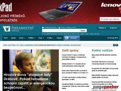 parlamentnilisty.cz hodnota je $ 1.801.502,90