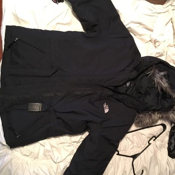 North Face winter coat Like new! Black women's north face jacket with zip off/on fur hood North Face Jackets & Coats