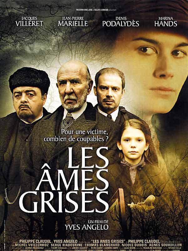 Les Ames grises est un film de Yves Angelo avec Jean-Pierre Marielle, Jacques Villeret. Synopsis : Durant l'hiver 1917, le meurtre d'une fillette met en émoi un paisible village situé non loin de la ligne de front. Plusieurs notables sont soupçonnés