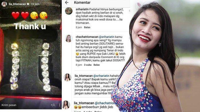 Kena Cibir Lantaran Unggah Foto Anting Berlian, Lia Trio Macan Tampar Netizen dengan Kalimat Ini