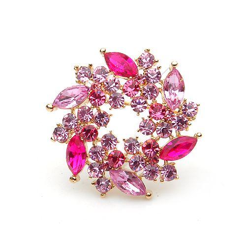 a0001 rosa spilla fiore bouquet di dolci abiti da sposa con cristalli gioielli zakka cinese costume gioielli spedizione gratuita