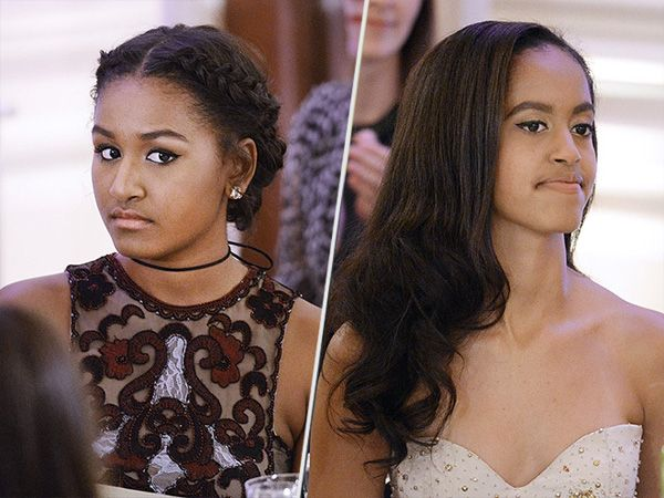 Malia and Sasha Obama Look Gorgeous at First State Dinner; 'They Grow Up Too Fast,' Says Dad http://stylenews.people.com/style/2016/03/11/malia-sasha-obama-state-dinner/