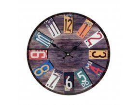 Nástěnné hodiny barevné skleněné