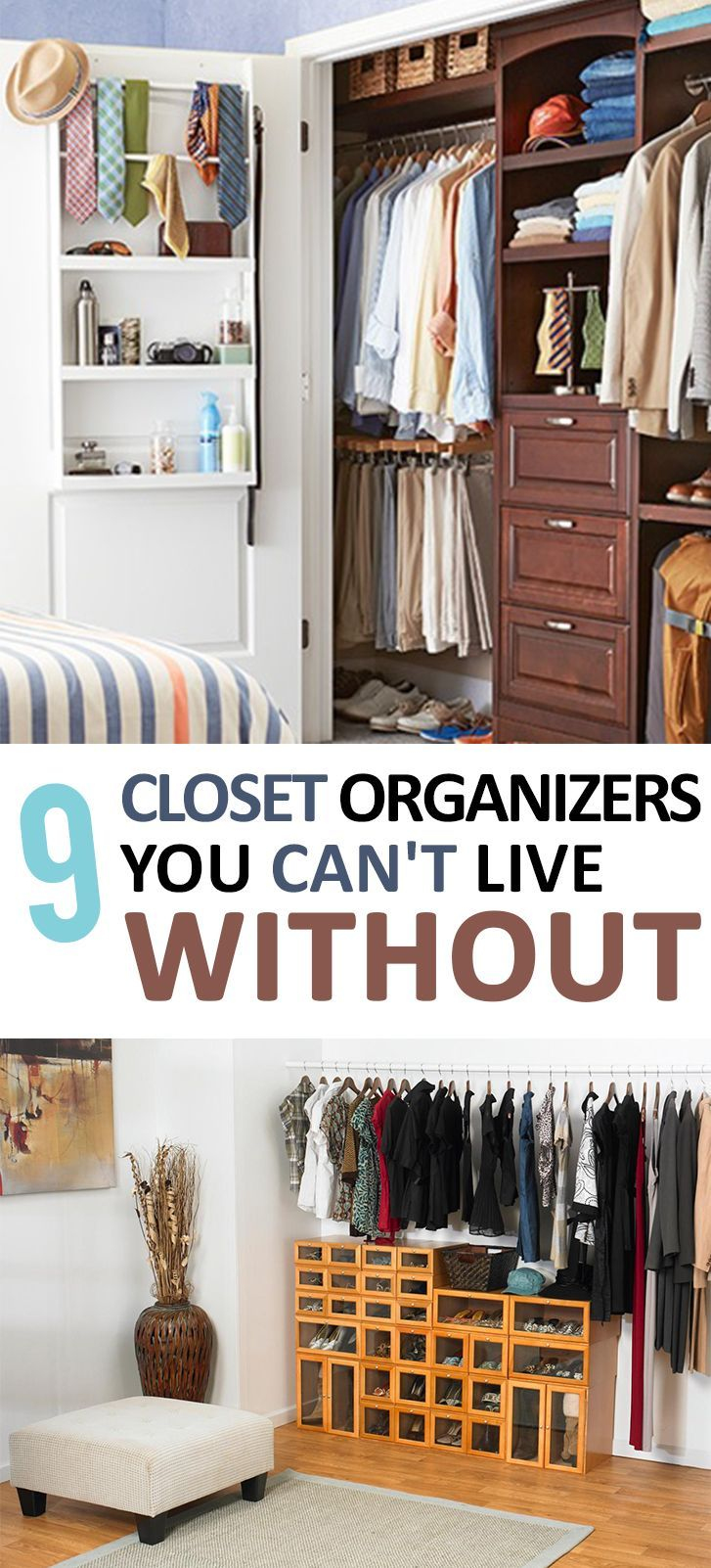 Closet Organization, Cheap Closet Organization, Closet Organziation Tips, How to Organize Your Closet, Clutter Free Closet TIps,  Organization Tips and Tricks, Organization 101, Home Organization. Closet, Organization, DIY Home, Organization.