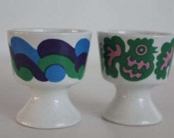 Pair of egg cups, by Arabia Finland