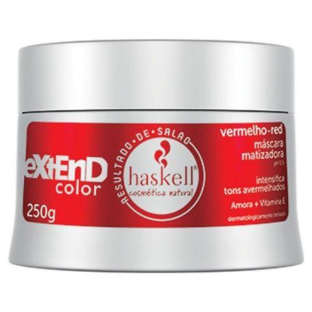 Mascara Matizador Haskell Extend Color Vermelho Red - 250g - Magia Cosméticos - Maquiagens, Perfumes, Shampoos, Tinturas, Equipamentos e muito mais!