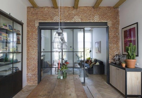 An industrial dream home X a steel wall divider by vtwonen & a DIY | Vosgesparis | Bloglovin'