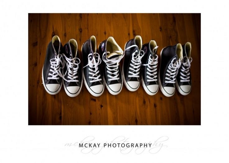 Chuck Taylors as groom & groomsmen wedding shoes  #chucktaylors #converse #wedding #mckayphotography