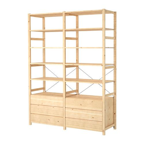 IVAR 2 sections/shelves/chest IKEA Untreated solid pine is a durable natural material that can be painted, oiled or stained according to preference.
