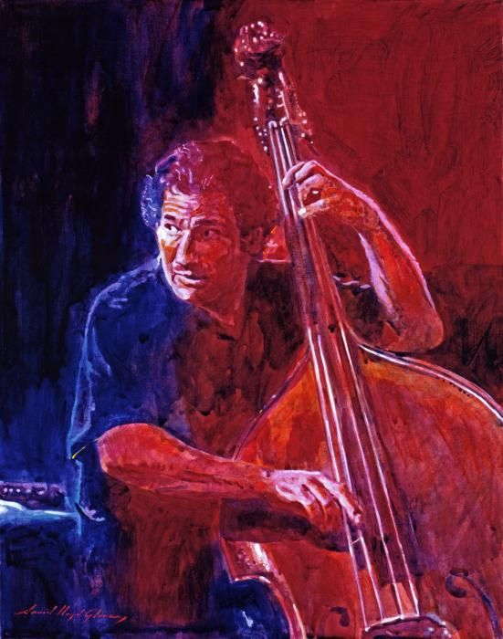 John Patitucci From the Bottom - acrylic on canvas painting by David Lloyd Glover
