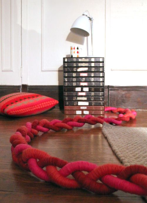 Add some serious wow to an over-corded room: Braided extension cords! #DIY