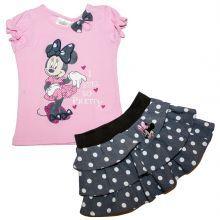 set 2 Bluza MS-fusta Minnie - roz
