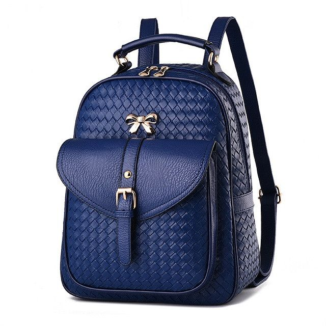 2017 new fashion ladies backpack shoulder Backpack Bag dual-purpose Korean fashionista PU leather bag of wind