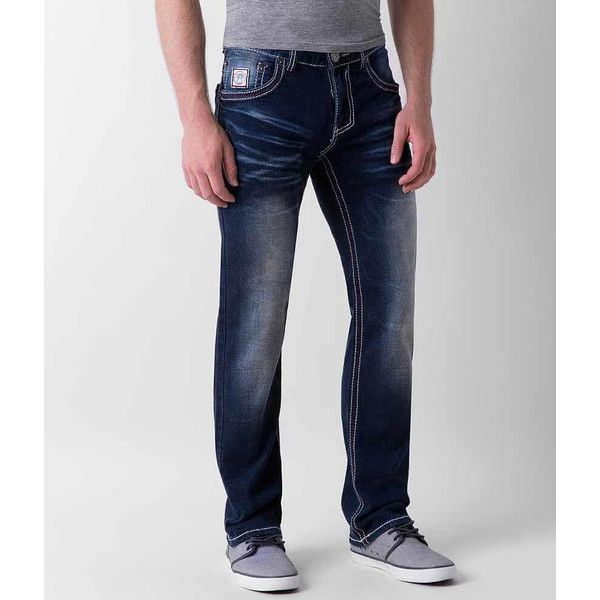 American Fighter Legend Stretch Jean - Blue 30/32 ($76) ❤ liked on Polyvore featuring men's fashion, men's clothing, men's jeans, blue, mens blue jeans, mens low rise jeans, mens low rise slim fit bootcut jeans, mens slim fit stretch jeans and mens straight jeans #mensjeansfit