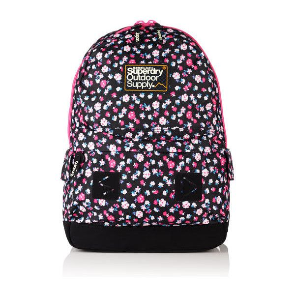 Superdry Dewberry Montana Rucksack (740 ARS) ❤ liked on Polyvore featuring bags, backpacks, black, knapsack bag, day pack backpack, superdry backpack, superdry bag and superdry