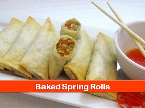 Baked spring rolls recipe/Easy healthy vegetable roll recipes/evening snacks ideas-let's be foodie - YouTube