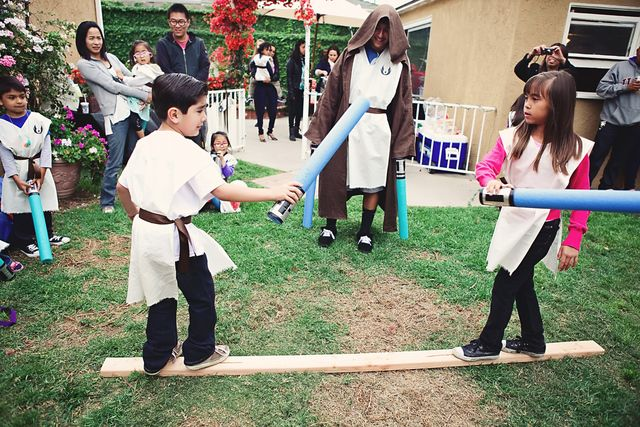 Photo 6 of 40: Star Wars / Jedi Training Academy / Birthday Jedi Academy | Catch My Party