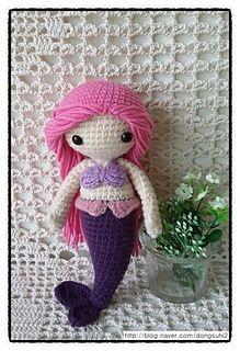 Mermaid - free Korean crochet pattern with English to follow by JUNGHWA KIM.
