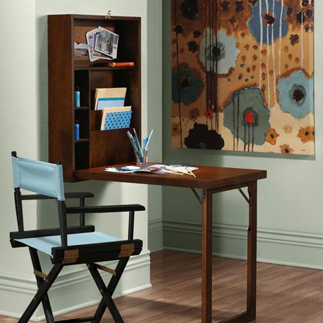 Murphy Desk ($143): If you're short on space, install one of these desks that folds up into a wall cabinet. Not only will it save precious real estate in your living room or bedroom, it will also hide any clutter.