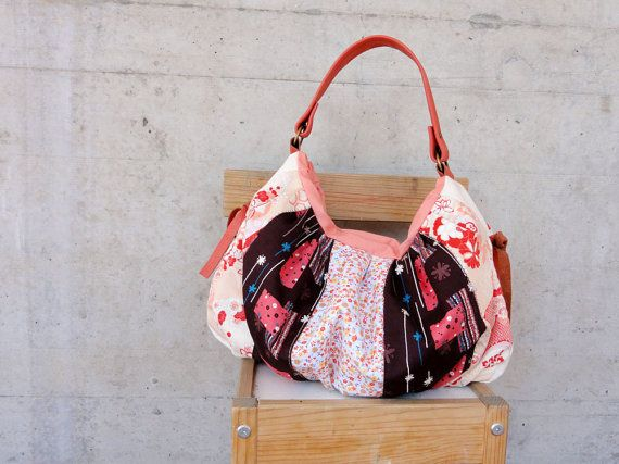 Another bag from Le Jardin des Fleurs series, this time in Orange and Brown flowery Japanese Fabrics.This super pretty bag is the same with Pomegranate Bag. But, except using the same pattern everything else about this bag is totally different. After the first green colour here, https://www.etsy.com/listing/99623697/modern-patchwork-pleated-bag-with I decided to make more of this bag, because the choices of colours is so wide. So here we go, a very pretty, girlie and...