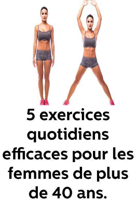 5 exercices quotidiens efficaces pour les femmes de plus de 40 ans.
