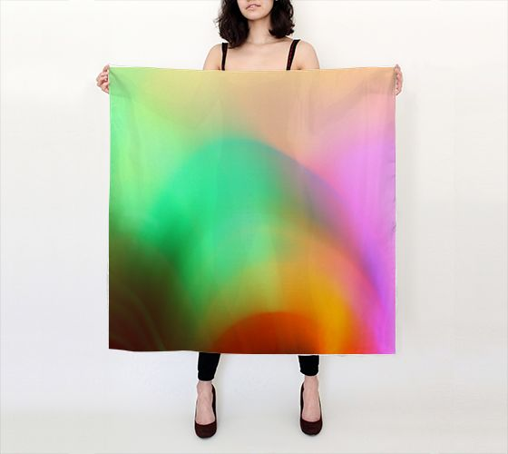"Big Square Scarf (36"" x 36"") """"glow"" Large Square Scarf"" by Shandra Smith Art"