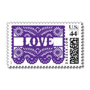 Papel Picado Custom Postage Stamps by calaverapress1 on Etsy, $10.00