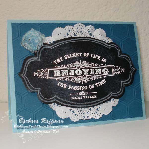 Secret of Life Chalkboard by MoonChild - Cards and Paper Crafts at Splitcoaststampers