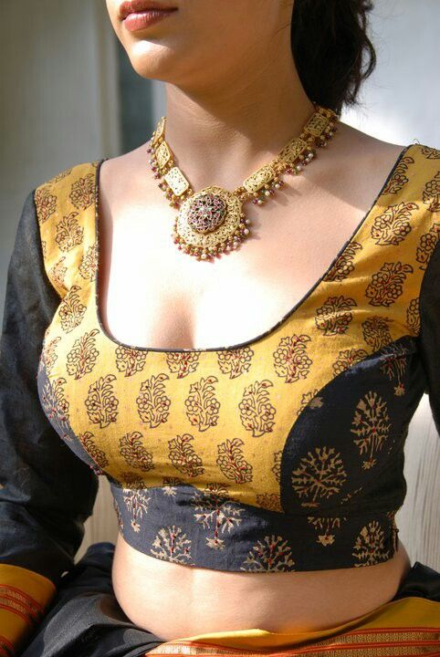 Golden and black combination designer princes cut .. at mytailor.in