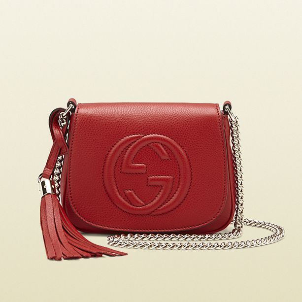 Gucci Soho Leather Chain Shoulder Bag  Looooove that it is RED!!