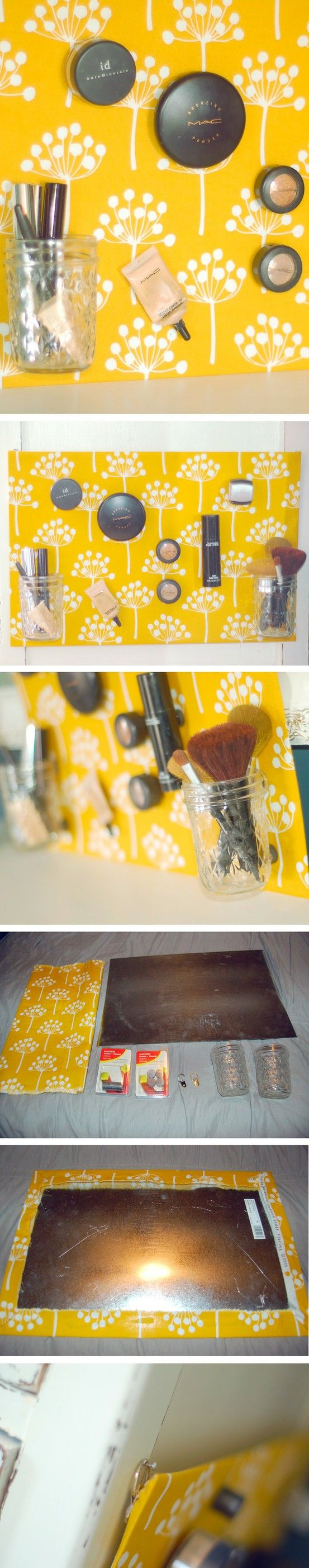 DIY Magnetic Makeup Board - so smart
