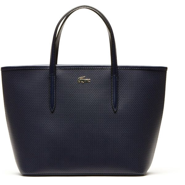 Lacoste Chantaco shopper ($140) ❤ liked on Polyvore featuring bags, handbags, tote bags, shopping tote, shopping bag, croc tote, leather purse and leather handbags