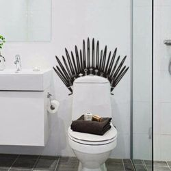 Toilet Iron Throne Game of Thrones Valar Morghulis Wall Decal Sticker Decor Art