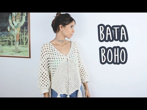 tutorial crochet blusa flores how to do bluse (subtitles in several lenguage) - YouTube