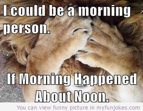 I could be a morning person if… — really funny jokes  - http://www.myfunjokes.com/funny-jokes/i-could-be-a-morning-person-if-really-funny-jokes/ #funny  #prank  #funnypics  #animal  #dog  #haha  #cute