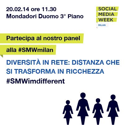 Diversità in rete: distanza che si trasforma in ricchezza Alla Social Media Week di Milano, il team GGD Milano ha moderato un panel dedicato al rapporto tra tecnologia e differenze di genere, di abilità, fisiche e culturali. #smwmilan #SMWimdifferent