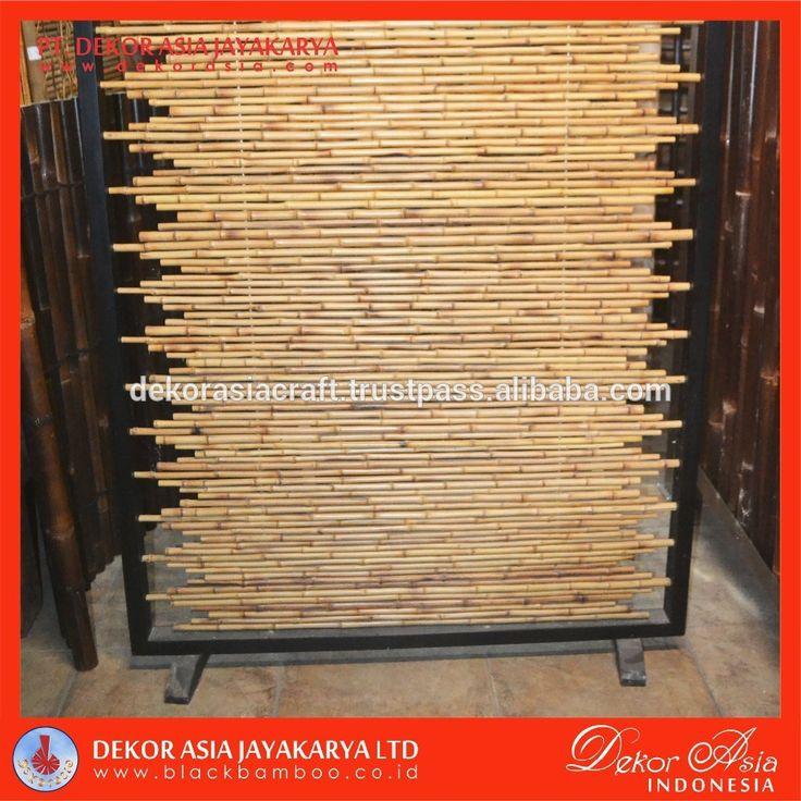 Bamboo Cendani Fence with wooden black frame, View bamboo cendani fence, DEKOR ASIA Product Details from PT. DEKOR ASIA JAYAKARYA on Alibaba.com
