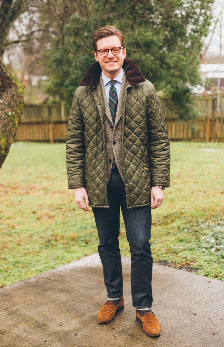 "menswearmusings: "" Barbour Liddesdale to keep you warm in the chill """
