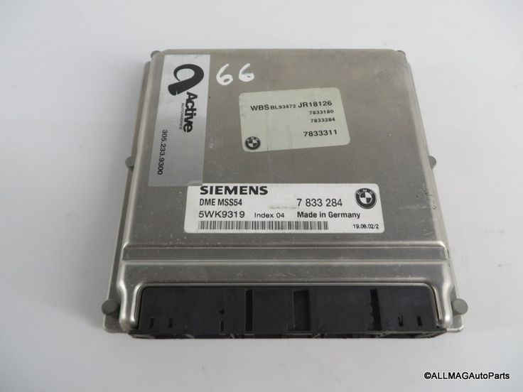 2001-2006 BMW M3 Engine Control Unit DME 66 12147833284 MSS54 E46