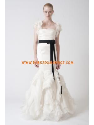 Vera Wang belle robe de mariée glamour sans bretelle ornée...