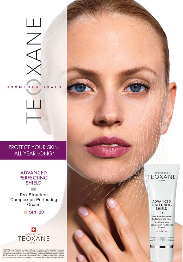 The next generation SPF – TEOXANE Advanced Perfecting Shield Optimal Hydration, Reinforced Protection and Complexion Correction all in  one.