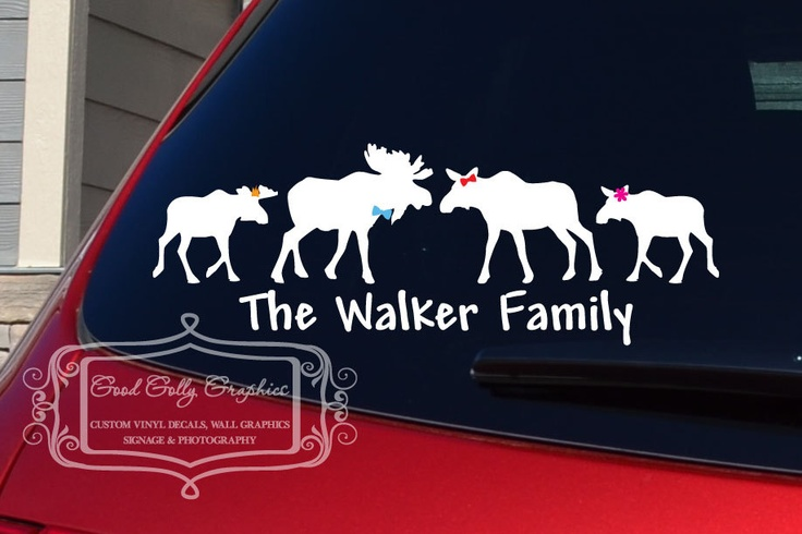 This is for Mary Beth!!  Stick family Moose family vinyl vehicle decal. $12.00, via Etsy.