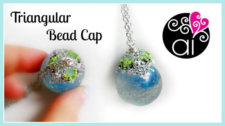 Triangular Bead Cap | DIY Pendant | Cappetta di delica rocailles e cipol...