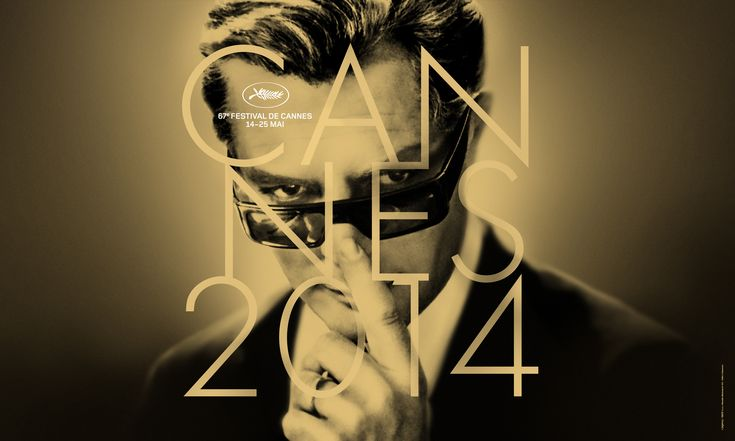 Official Poster of 67 th  Cannes Film Festival .2014. Landscape mode