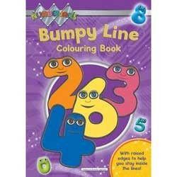 Numberjacks Bumpy Line Colouring Book